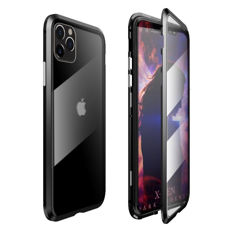 Husa Magnetica 360 cu sticla fata spate, pentru iPhone XI 11 Pro Max, Neagra