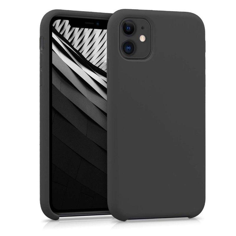 Husa Silicon iPhone XI 11 Pro, interior din microfibra, Neagra