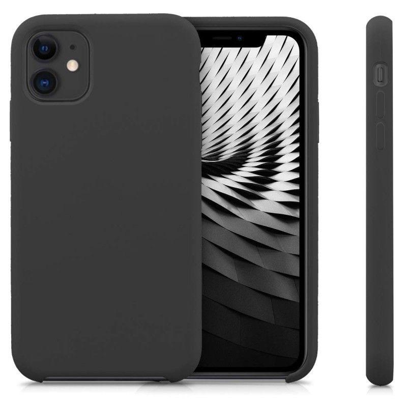 Husa Silicon iPhone XI 11 Pro, interior din microfibra, Neagra - 2