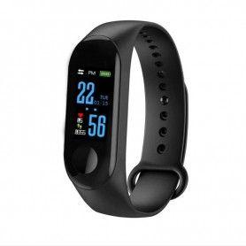 Smartwatch Bratara Ceas Fitness M3 bluetooth, Negru  - 1