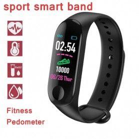 Smartwatch Bratara Ceas Fitness M3 bluetooth, Negru  - 2