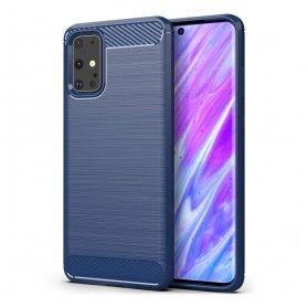 Husa Tpu Carbon pentru Samsung Galaxy S20+ Plus, Midnight Blue  - 1