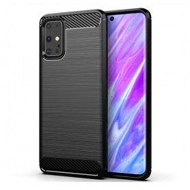 Husa Tpu Carbon pentru Samsung Galaxy S20+ Plus, Neagra
