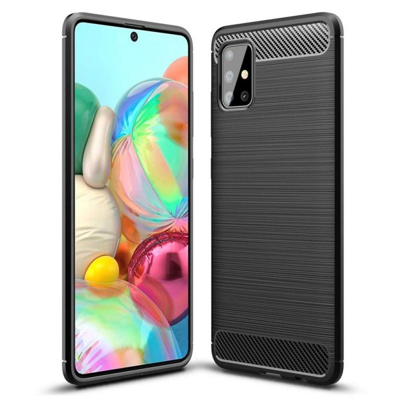 Husa Tpu Carbon pentru Samsung Galaxy A71, Neagra