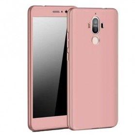 Husa 360 Protectie Totala Fata Spate pentru Huawei Mate 20 Lite , Rose Gold  - 1