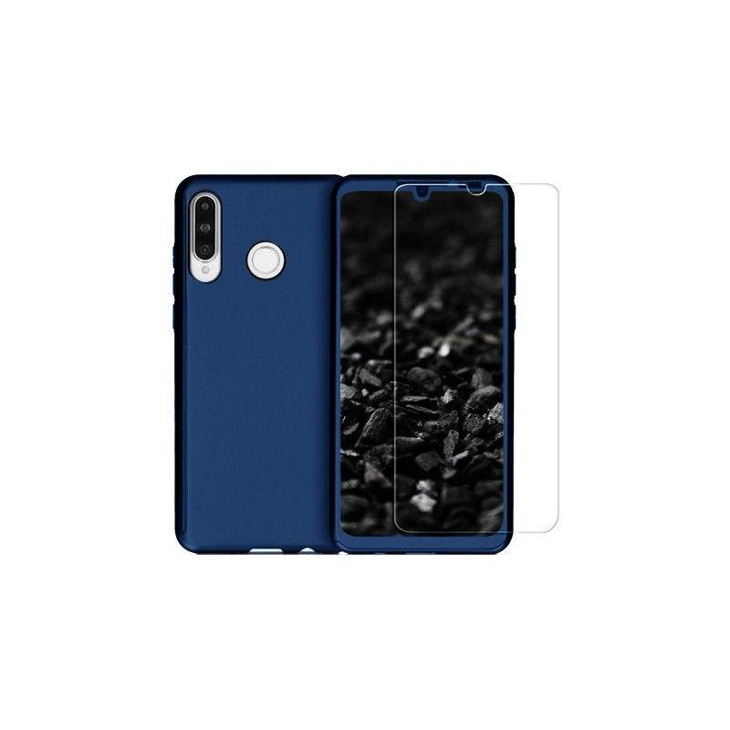 Husa 360 Protectie Totala Fata Spate pentru Huawei P30 Lite , Dark Blue  - 1