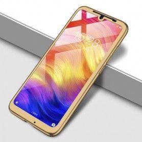 Husa 360 Protectie Totala Fata Spate pentru Huawei Y7 2019 , Aurie  - 1