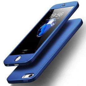 Husa 360 Protectie Totala Fata Spate pentru iPhone 5 / 5S / SE , Albastra  - 1
