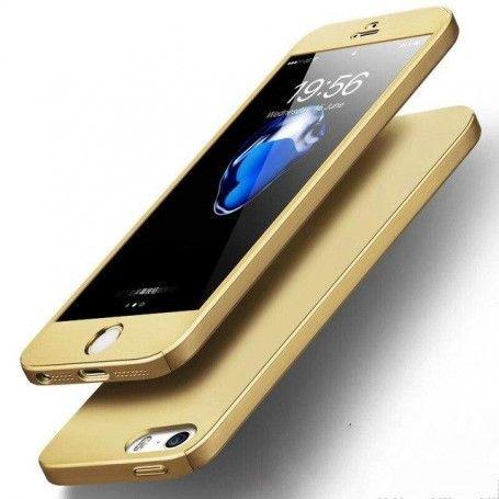 Husa 360 Protectie Totala Fata Spate pentru iPhone 5 / 5S / SE , Aurie la pret imbatabile de 38,99lei , intra pe PrimeShop.ro.ro si convinge-te singur