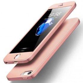 Husa 360 Protectie Totala Fata Spate pentru iPhone 5 / 5S / SE , Rose Gold  - 1