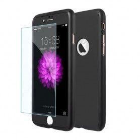 Husa 360 Protectie Totala Fata Spate pentru iPhone 5 / 5S / SE , Neagra  - 1