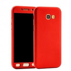 Husa 360 Protectie Totala Fata Spate pentru Samsung Galaxy A5 (2017) / A520 , Rosie  - 1