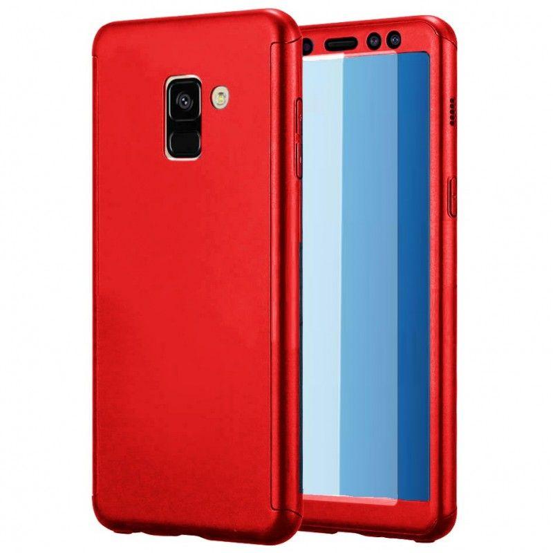 Husa 360 Protectie Totala Fata Spate pentru Samsung Galaxy A6 Plus (2018) , Rosie  - 1