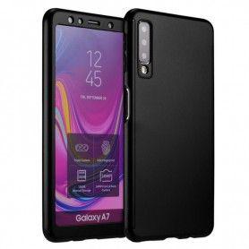 Husa 360 Protectie Totala Fata Spate pentru Samsung Galaxy A7 (2018) , Neagra  - 1