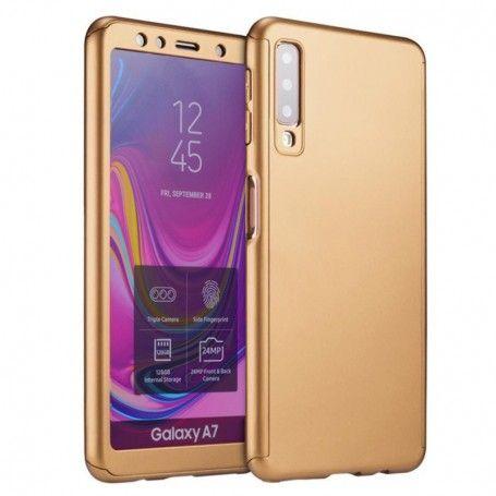 Husa 360 Protectie Totala Fata Spate pentru Samsung Galaxy A7 (2018) , Aurie la pret imbatabile de 38,99lei , intra pe PrimeShop.ro.ro si convinge-te singur