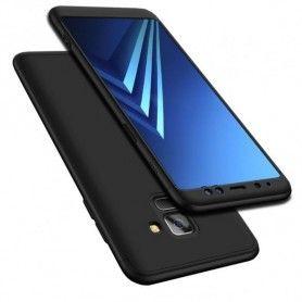 Husa 360 Protectie Totala Fata Spate pentru Samsung Galaxy A8 (2018) , Neagra  - 1
