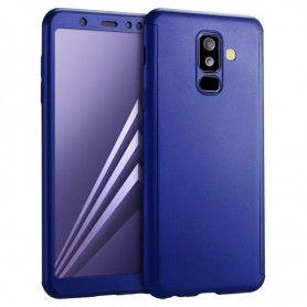 Husa 360 Protectie Totala Fata Spate pentru Samsung Galaxy A8 (2018) , Albastra  - 1