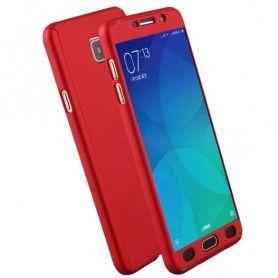 Husa 360 Protectie Totala Fata Spate pentru Samsung Galaxy A8 (2018) , Rosie  - 1