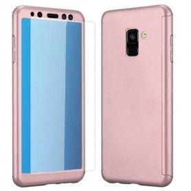 Husa 360 Protectie Totala Fata Spate pentru Samsung Galaxy A8 (2018) , Rose Gold  - 1