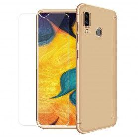 Husa 360 Protectie Totala Fata Spate pentru Samsung Galaxy A40 , Aurie  - 1