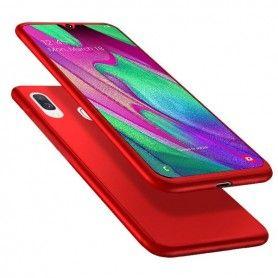 Husa 360 Protectie Totala Fata Spate pentru Samsung Galaxy A40 , Rosie  - 1