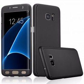 Husa 360 Protectie Totala Fata Spate pentru Samsung Galaxy J3 (2016) J310 , Neagra  - 1