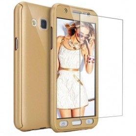Husa 360 Protectie Totala Fata Spate pentru Samsung Galaxy J3 (2016) J310 , Aurie  - 1