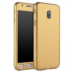 Husa 360 Protectie Totala Fata Spate pentru Samsung Galaxy J5 (2017) J530, Aurie  - 1