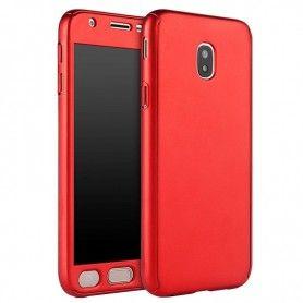 Husa 360 Protectie Totala Fata Spate pentru Samsung Galaxy J5 (2017) J530, Rosie  - 1