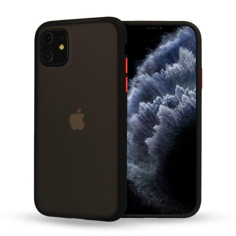 Husa Mata cu bumper din silicon pentru iPhone 11, Neagra  - 1