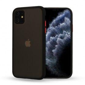 Husa Mata cu bumper din silicon pentru iPhone XR, Neagra  - 1
