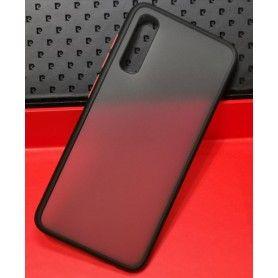 Husa Mata cu bumper din silicon pentru Samsung Galaxy A70, Neagra  - 3