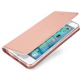 Husa Flip Tip Carte DuxDucis Skin Pro pentru iPhone 5 / 5S / SE , Rose Gold DuxDucis - 1