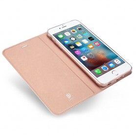 Husa Flip Tip Carte DuxDucis Skin Pro pentru iPhone 5 / 5S / SE , Rose Gold DuxDucis - 4