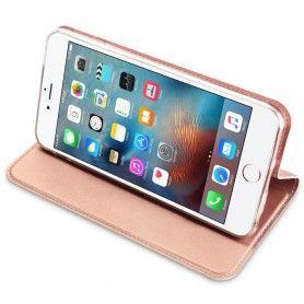 Husa Flip Tip Carte DuxDucis Skin Pro pentru iPhone 5 / 5S / SE , Rose Gold DuxDucis - 5