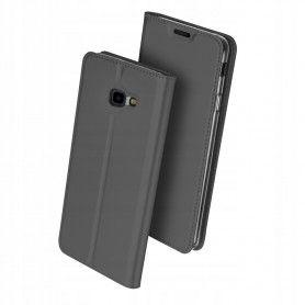 Husa Flip Tip Carte DuxDucis Skin Pro pentru Samsung Galaxy J4 Plus (2018) - J415 , Gri DuxDucis - 1