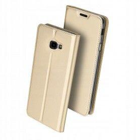 Husa Flip Tip Carte DuxDucis Skin Pro pentru Samsung Galaxy J4 Plus (2018) - J415 , Aurie DuxDucis - 1