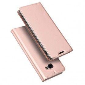 Husa Flip Tip Carte DuxDucis Skin Pro pentru Samsung Galaxy J4 Plus (2018) - J415 , Rose Gold DuxDucis - 2