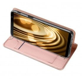 Husa Flip Tip Carte DuxDucis Skin Pro pentru Samsung Galaxy J4 Plus (2018) - J415 , Rose Gold DuxDucis - 3