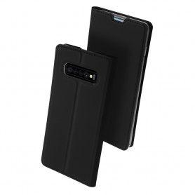 Husa Flip Tip Carte DuxDucis Skin Pro pentru Samsung Galaxy S10 , Neagra DuxDucis - 3