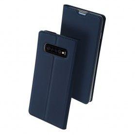 Husa Flip Tip Carte DuxDucis Skin Pro pentru Samsung Galaxy S10 , Midnight Blue DuxDucis - 4