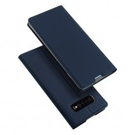Husa Flip Tip Carte DuxDucis Skin Pro pentru Samsung Galaxy S10 , Midnight Blue DuxDucis - 5