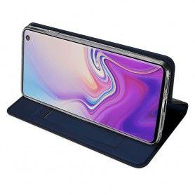 Husa Flip Tip Carte DuxDucis Skin Pro pentru Samsung Galaxy S10 , Midnight Blue DuxDucis - 3