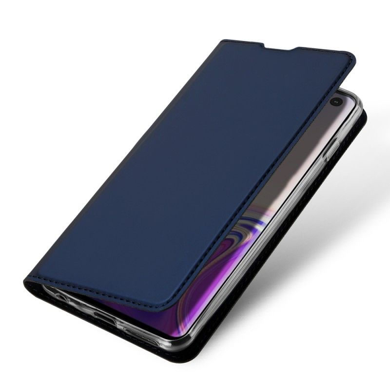 Husa Flip Tip Carte DuxDucis Skin Pro pentru Samsung Galaxy S10 , Midnight Blue DuxDucis - 1
