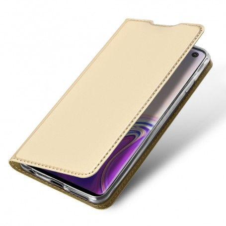 Husa Flip Tip Carte DuxDucis Skin Pro pentru Samsung Galaxy S10 , Auriu la pret imbatabile de 59,90lei , intra pe PrimeShop.ro.ro si convinge-te singur