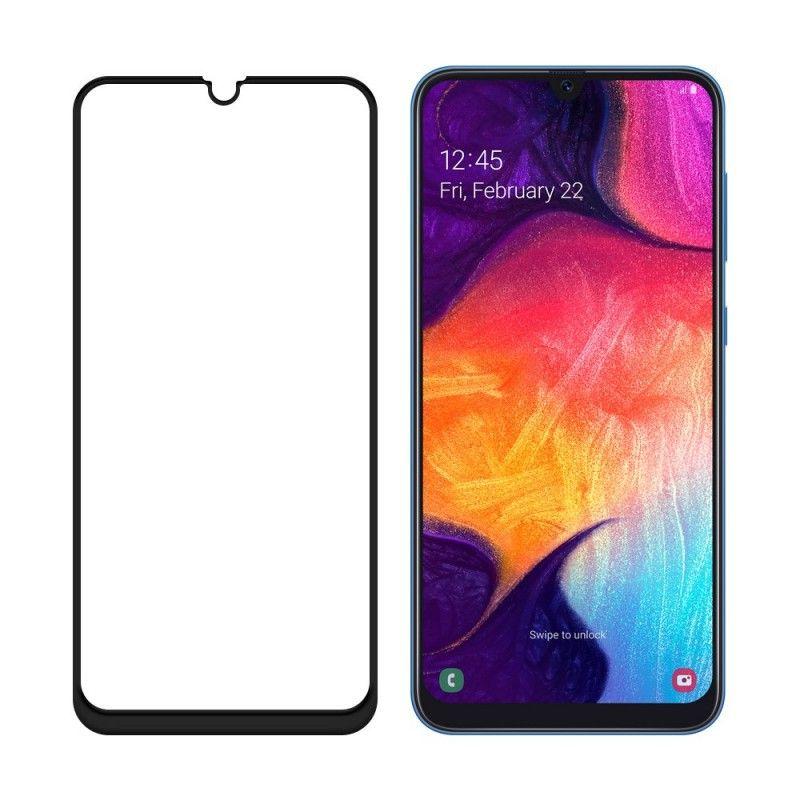 Folie Sticla Securizata pentru Samsung Galaxy A70, Case Friendly, Neagra  - 1