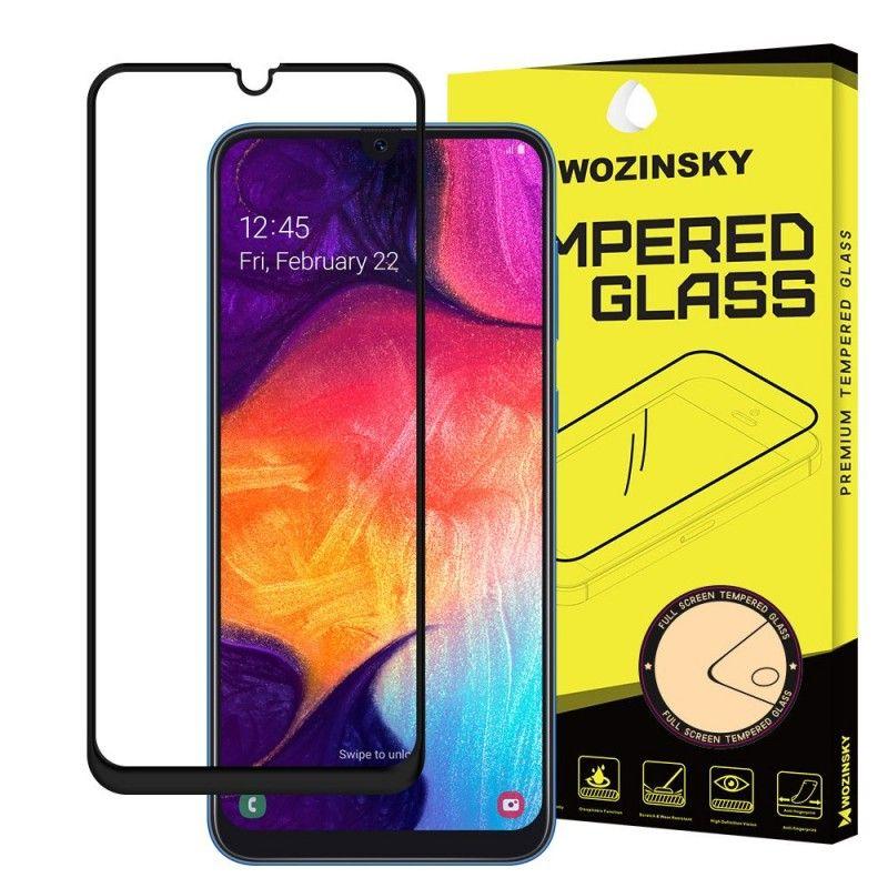 Folie Sticla Securizata pentru Samsung Galaxy A70, Case Friendly, Neagra - 2