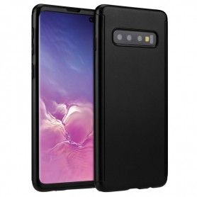 Husa 360 Protectie Totala Fata Spate pentru Samsung Galaxy S10, Neagra  - 1