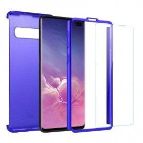 Husa 360 Protectie Totala Fata Spate pentru Samsung Galaxy S10, Albastra  - 2