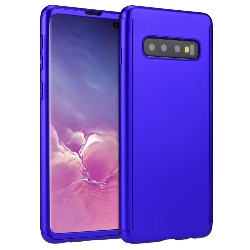 Husa 360 Protectie Totala Fata Spate pentru Samsung Galaxy S10, Albastra  - 1